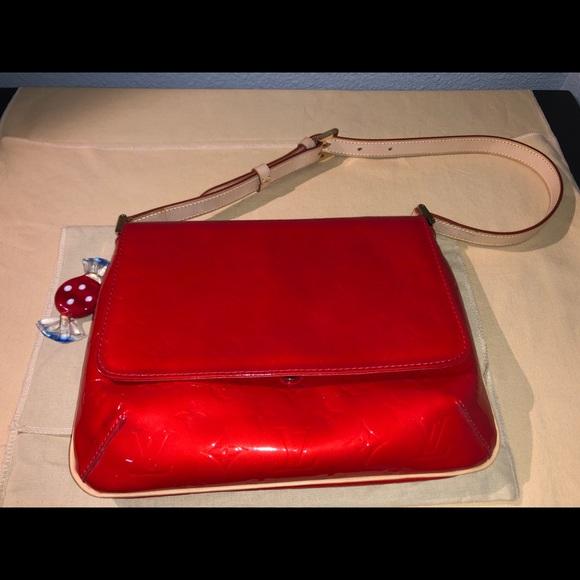 Louis Vuitton Handbags - Louis Vuitton Red Monogram Vernis Thompson